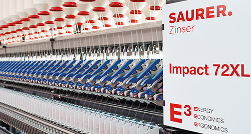 Sanko orders 48 Zinser 72XL: Saurer's new generation of compact spinning machines attracts customers