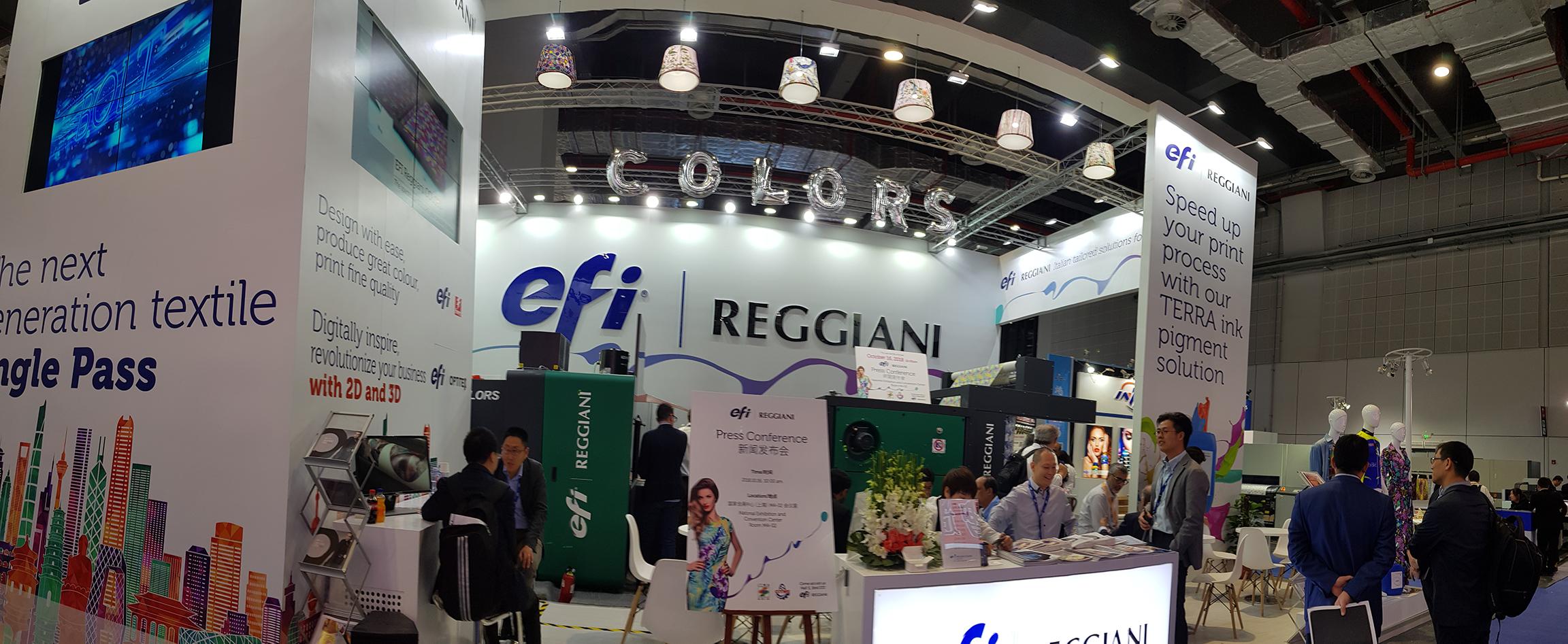 EFI Reggiani COLORS Yazıcı, Müşteriler için Yenilikler Sunuyor