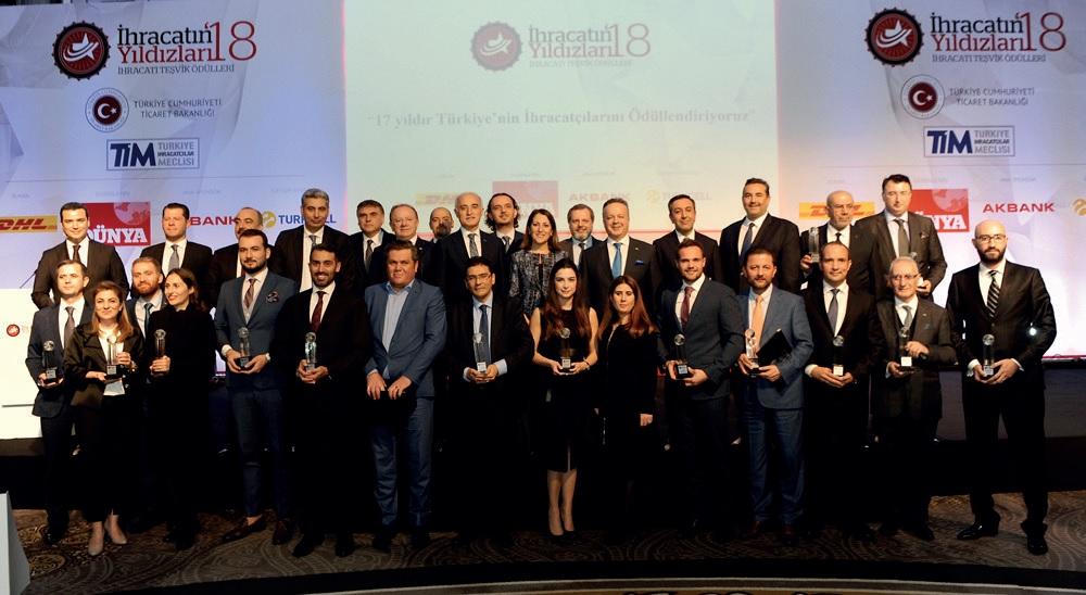 Türkiye'nin İhracat Şampiyonları Ödüllerine Kavuştu