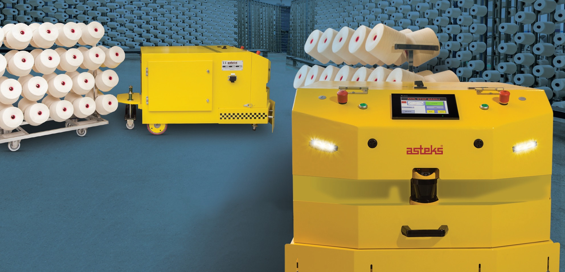 Asteks Ease the 'Load' of Mills with AGV
