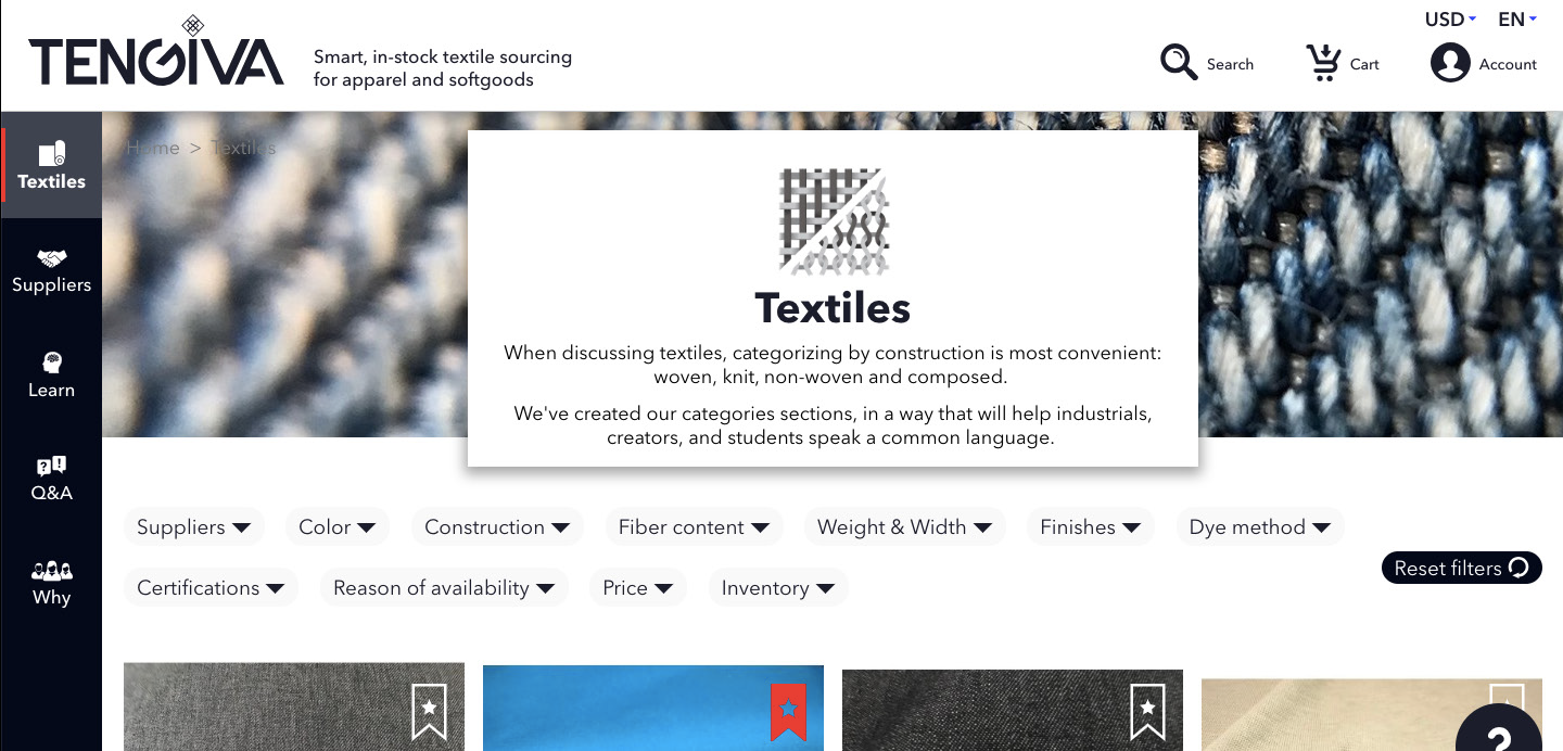 Tengiva Launches an Online Marketplace for in-Stock Textile Sales