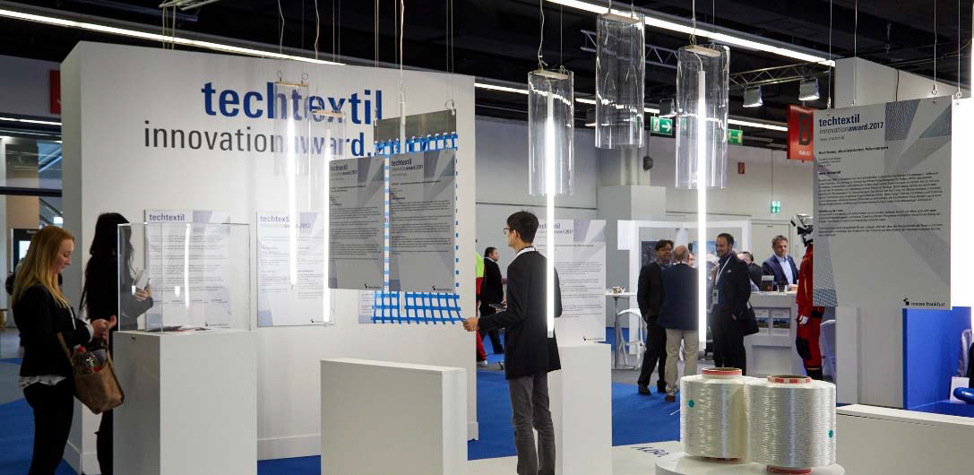 The winners of the Techtextil Innovation Awards 2019