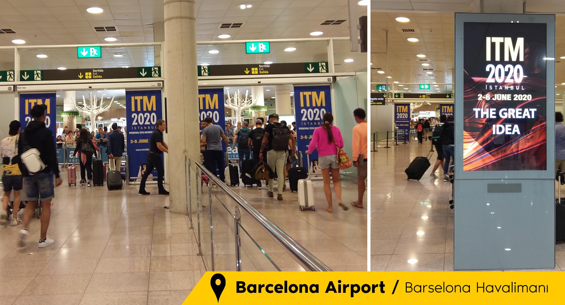 İstanbul ve Barselona Havaalanlarını Süsleyen ITM 2020 Reklamları Büyük İlgi Gördü