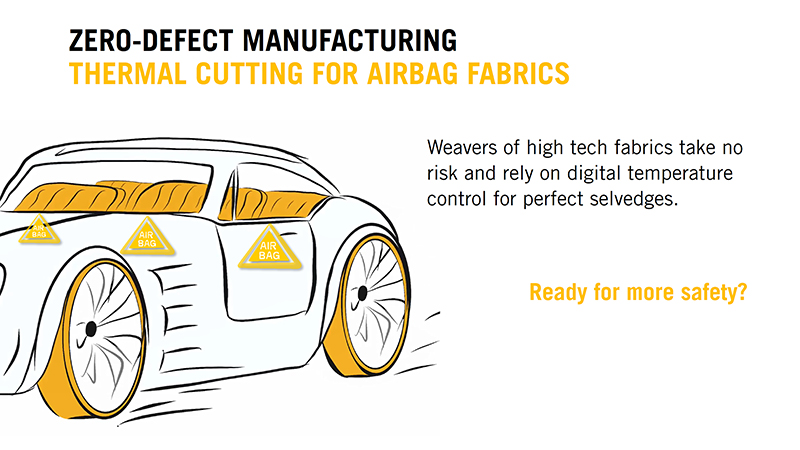 WeftMaster CUT-iT for Airbag Fabrics from Loepfe