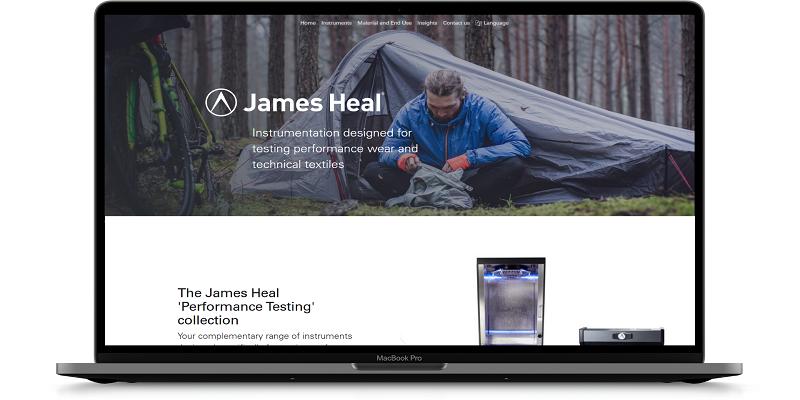 James Heal'den, Performans Tekstillerinin Test Edilmesi için Yeni Bir Web Sitesi